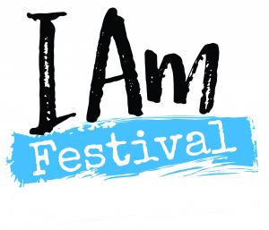I Am Festival bare white background